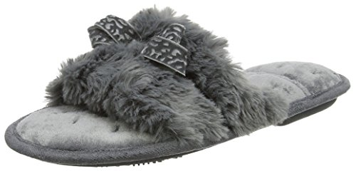 Isotoner Slider Slippers Mules Chaussons Fluffy Femme 61f67