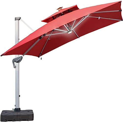 LKINBO 10 FT Offset Patio Umbrella