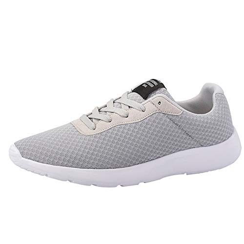 OrchidAmor Women Outdoor Mesh Shoes Casual Soft Bottom Lace-Up Comfortable Running Shoes Grey