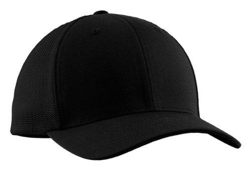 Port Authority Flexfit - Mesh Back Cap>L/XL Black/Black C812