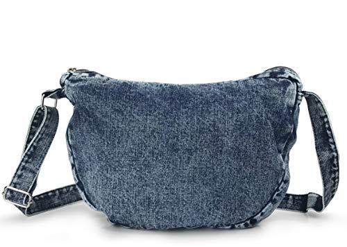 Denim Indigo Hobo Cross Body Bag Womens Shoulder Bag (Indigo)