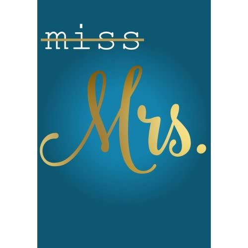 from miss to mrs engagement gift notebook 7 x 10 inches