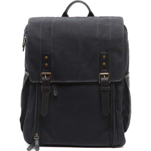 The Camps Bay Backpack (Black, Canvas/Leather) [並行輸入品]   B07MJYSVMY