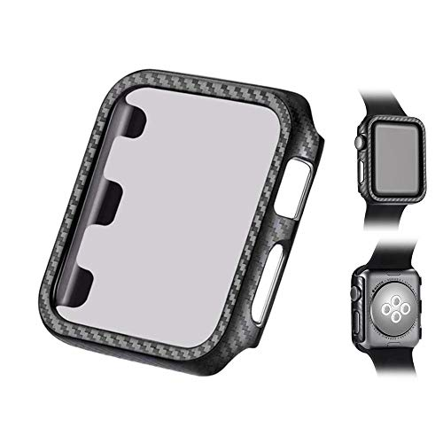 AOLVO Slim Full Cover Shell Hard PC Bumper Case Scratch Resistant Screen Protector Guard Cover Kit for Apple Watch Series 4/3/2/1, 44mm/42mm/40mm/38mm Black ()