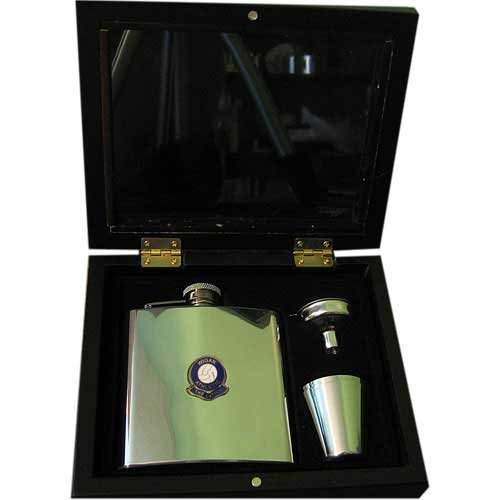 Wigan Athletic Football (Football Club Hip Flasks-Wigan Athletic 'The Latics' Football Club 6Oz Hip Flask Gift Set)