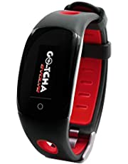 Datel Go-Tcha Evolve LED Touch Smartwatch for Pokemon Go Auto Catch Collecting Item with Time Clock Pedometer Function - Red