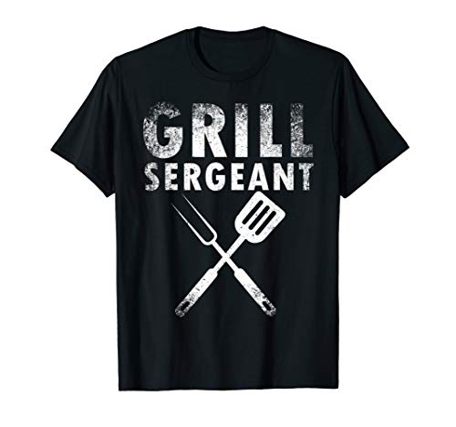 - Funny Father's Day Gift Grill Sergeant Grilling Dad Vintage T-Shirt