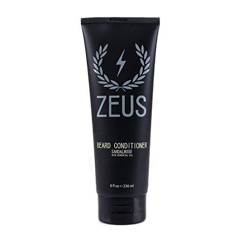 ZEUS Beard Conditioner Wash, Sandalwood, 8 Fluid Ounce -