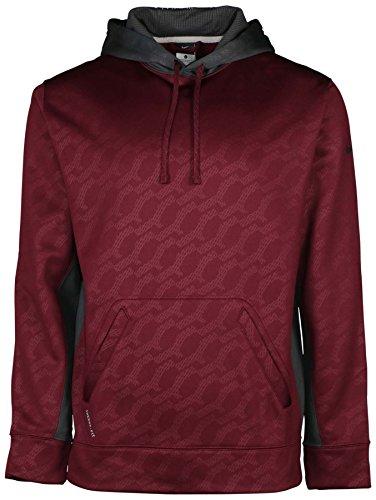 Nike Men's Therma-Fit KO Football Pullover Hoodie-Maroon-2XL (Nike Football Sweatshirt)
