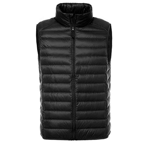 Down Jacket Vest Mens Black Down Lannister Collar Down Vest Waistcoats Ultralight Quilted Packable Warm Vest Men's Stand Fashion Vest qZafT