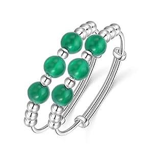 AMdxd Jewelry Silver Bracelets Baby Silver Onxy Beads (1 Pair) Bracelet for Newborn Baby Girl