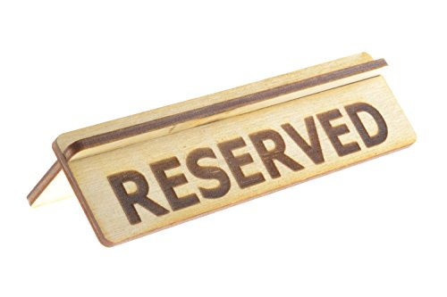 ORIGIN - (Small Size Reserved Table Sign - for Restaurants Made from Plywood, Flat-Packed for Easy Assembly