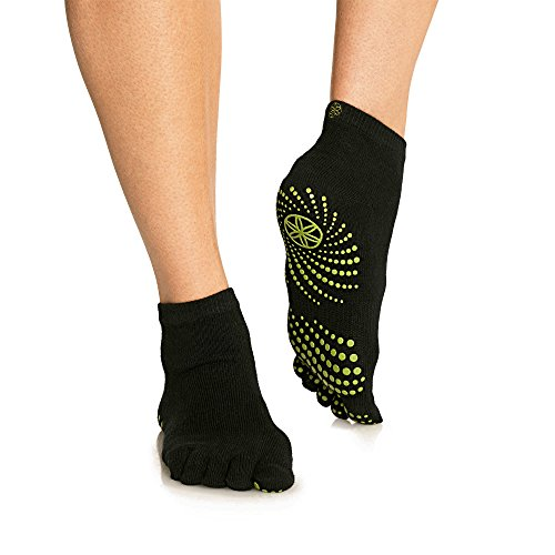 Gaiam Grippy Yoga Socks, Fern Green, Small/Medium