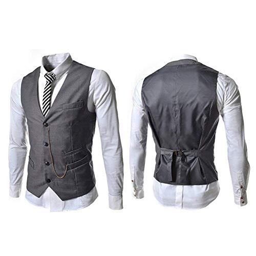 Les Hommes Boutons Élégant Grau Décontracté Gilet 4 Moderne Femmes Business Casua De Veste Costume Pour aqx7ZtI