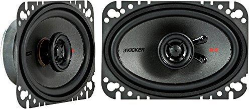 Kicker KSC4604 KSC460 4x6 Coax Speakers with .5 tweeters 4-Ohm [並行輸入品]   B07897B4FR