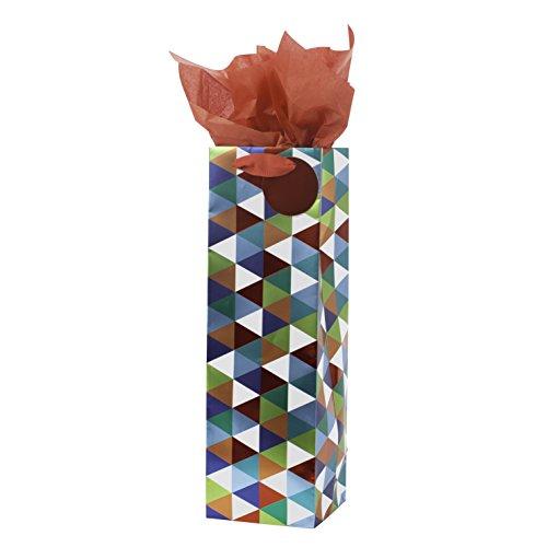 (Hallmark Bottle Gift Bag with Tissue (Geo Triangle))