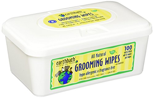 Ear Grmg Wipes Hypoaller 100pk by Earthbath