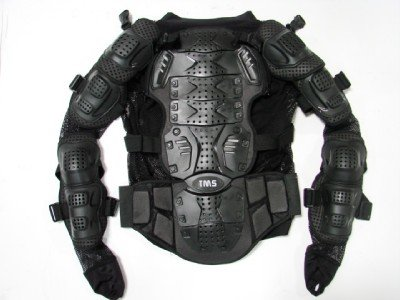 TMS® Motorcycle Full Body Armor Jacket Spine Protector (@TPROTECTOR2500-Black)
