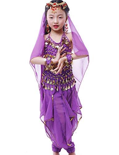 4a1b878cb cheaper 22447 6f16a fineser kids little girls chiffon belly dance ...