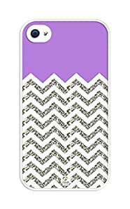 iZERCASE Chevron Pattern Purple Grey White Mixed iphone 6 /, iphone 6 /S case, (NOT ACTUAL GLITTER) - Fits iphone 6 /T-Mobile, AT&T, Sprint, Verizon and International