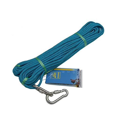 旋回状再発するアウトドアクライミング安全スリングラペル補助コード、プロフェッショナルサバイバル補助クライミング機器6MM (色 : オレンジ, サイズ : Diameter 6 mm/10M)