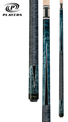 Players Crimson Super Birds-Eye Maple with Black and White Points Cue