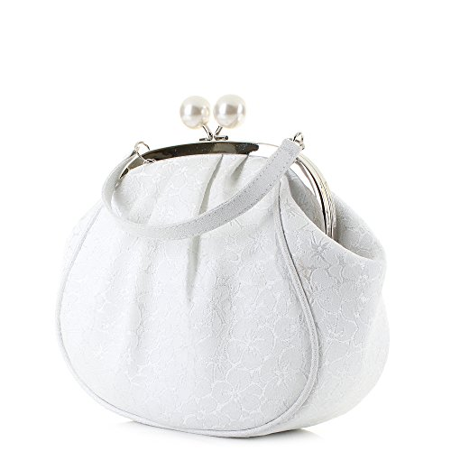 Ruby Shoo Women's Arco Pouch Evening Bag White