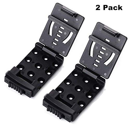 (HECOPRO Tactical Belt Clip Universal Utility EDC Belt Clip Large with Hardware-2Pack)
