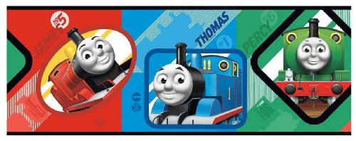 York Wallcoverings ZB3281BD Thomas Graphic Border, (Thomas The Train Border)