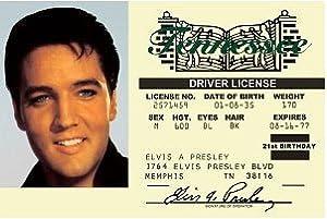 Amazon Com Elvis Presley S Driver S License From Memphis