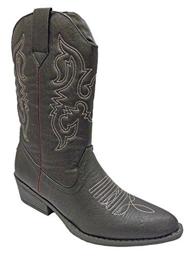 Charles Albert Femmes Western Cowboy Bottes Noires 2