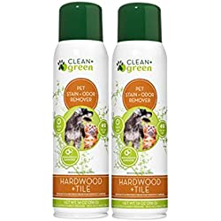 Clean+Green Professional Strength Hardwood and Tile Pet Odor Eliminator, Deodorizer, Stain Remover for Dogs and Cats, 14 Ounce