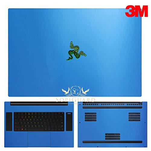 SopiGuard 3M Flip Frost Blue Full Body Precision Coverage Vinyl Sticker Skin for 2019 Razer Blade Pro 17 inch