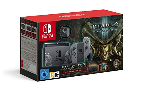 Nintendo Switch Diablo III Limited Edition Console with Diablo III Download Code + Themed Carry Case (Diablo 3 And Reaper Of Souls Bundle)