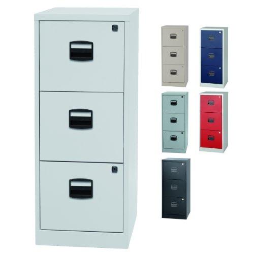 Home Office Hängeregistraturschrank mit 3 Schubladen einbahnig - abschließbar | 5 Farben (Lichtgrau)