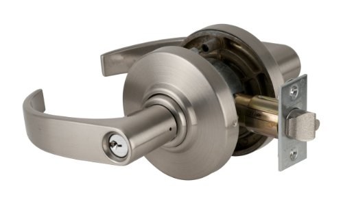 Schlage commercial AL40NEP626 AL Series Grade 2 Cylindrical Lock Satin Chrome Finish Neptune Lever Design Privacy Function