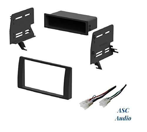 ASC Audio Car Stereo Dash Kit and Wire Harness for Installing an Aftermarket Radio for some 2002 2003 2004 2005 2006 Toyota Camry - No Factory Premium Amp - No OEM Factory Nav