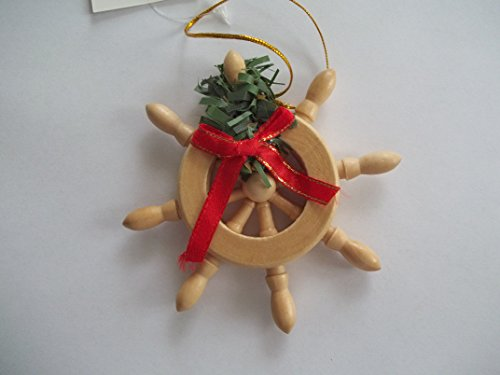 Ships Wheel Christmas Ornament
