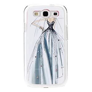 Wedding Girl Pattern Hard Case with Rhinestone for Samsung Galaxy S3 I9300