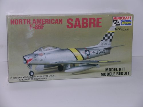 North American F-86F Sabre Jet Fighter---Plastic Model Kit (Sabre North F-86f American)