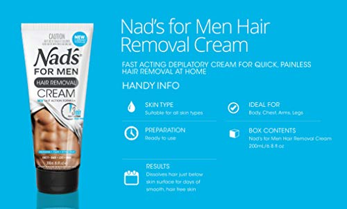 Nad's for Men Hair Removal Cream - Painless Hair Removal For Men - Soothing Depilatory Cream For Unwanted Coarse Male… 6