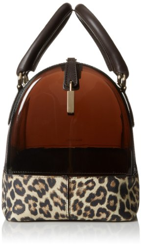 Furla Candy M Satchel with Leopard Print Top Handle Bag