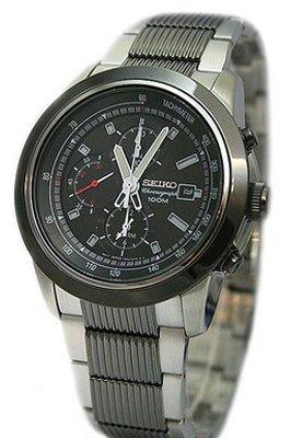 Seiko Men's Alarm Chronograph Bracelet Strap Watch SNAB19P1 (Alarm Chronograph Bracelet)