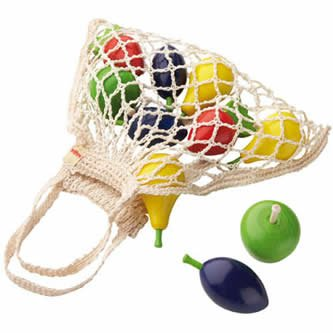 Haba Wooden Food (HABA Wooden Fruit Set in Shopping Bag)