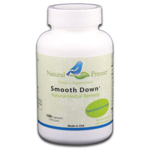 Natural Premier - SmoothDown - natural herbal remedy for indigestion, 100 Capsules