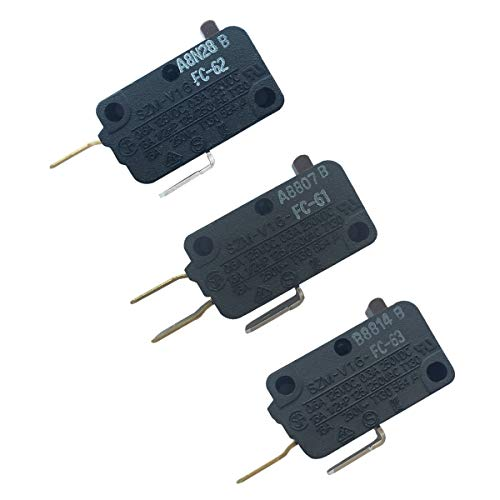 LONYE 28QBP0495 & 28QBP0497 & W10269458 Microwave Switch for for Whirlpool Microwave SZM-V16-FC-61 SZM-V16-FC-62 SZM-V16-FC-63 (Switch Interlock Microwave)