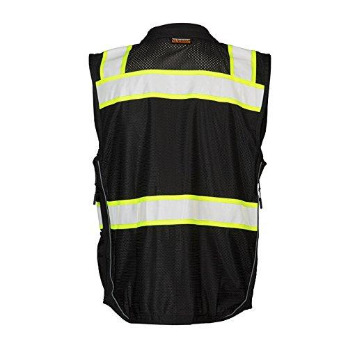 ML Kishigo B500 Lime Enhanced Visibility Professional Utility Vest (3XL)