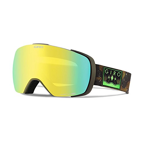 Giro Contact Snow Goggle 2016 - Men's Mil Spec Olive/Camo Captain Frame with Loden Yellow/Persimmon Blaze ()