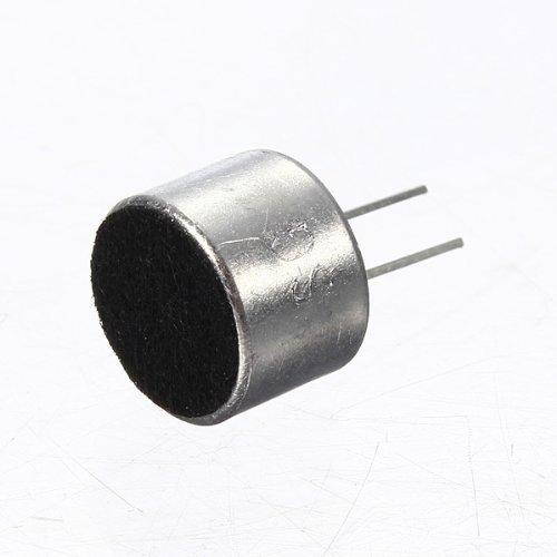 SODIAL(R) 10 Pcs 2 Pin Mini MIC Capsule Electret Condenser Microphone Silver Tone Black 4330234674
