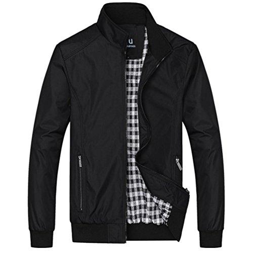 Outerwear Black Coat Men's Tops Jacket Casual qgITw0T
